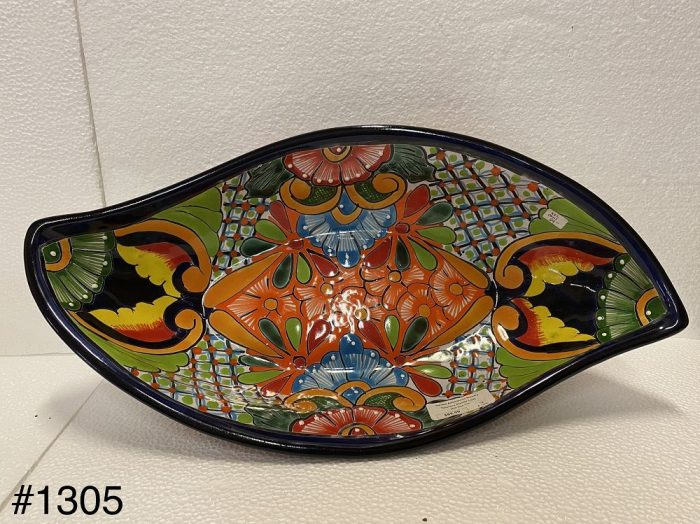 Talavera Platter Leaf